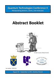 Abstract Booklet - Quantum Technologies Conference