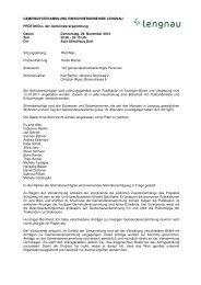 Protokoll der Gemeindeversammlung vom 29.11.2012