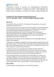 Protokoll der 109. Hauptversammlung in Bern vom 27.04 - geosuisse