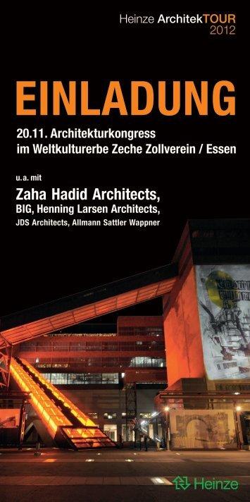 Einladung 20.11. Architekturkongress im ... - Schomburg