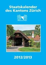 Staatskalender des Kantons Zürich 2012/2013 - Newsletter - Kanton ...