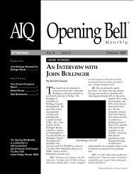 AN INTERVIEW WITH JOHN BOLLINGER - AIQ Systems