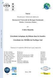 Géochimie isotopique du lithium dans les basaltes-Géochimie des ...