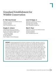 Grassland Establishment for Wildlife Conservation - USDA Farm ...
