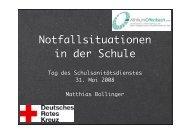Notfallsituationen in der Schule - Schule & Gesundheit - Hessen