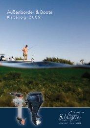Außenborder & Boote Katalog 2009 - Echolot & Outdoor Schlageter ...