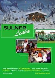 Sulner Wasserversorgung - Buchpräsentation ... - Gemeinde Sulz