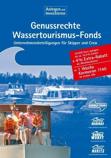Genussrechte Wassertourismus-Fonds