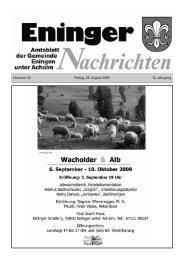 28. August 2009 - Eningen unter Achalm