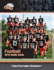 2010 Football Media Guide - Ohio Northern University