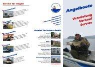 Vermietung Verkauf Service Angelboote - Segelschule Greubel