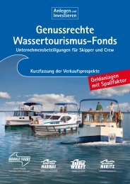Genussrechte Wassertourismus-Fonds - Kuhnle-Tours