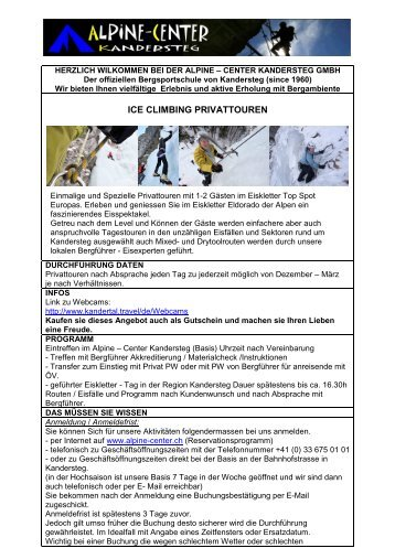 Ice Climbing Privattouren - Alpine-Center