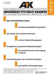 Familienselbsthilfe Psychiatrie - Angehörige psychisch Kranker