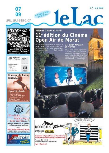 07 09 11e édition du Cinéma Open Air de Morat - Zeitung Le ...
