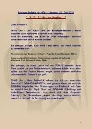 Bodensee Bulletin Nr. 056 - Dienstag, 20. Juli 2010 - big-max-web.de
