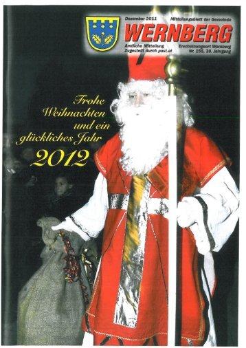 Mitteilungsblatt - Dezember 2011 - Gemeinde Wernberg