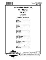 Illustrated Parts List 31L700 - eReplacementParts.com