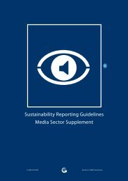 Media Sector Supplement - Global Reporting Initiative