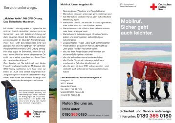 Rufen Sie uns an. Infos unter - DRK - Kassel-Wolfhagen eV