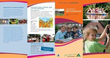 Hausprospekt der Jugendherberge Bad Zwischenahn