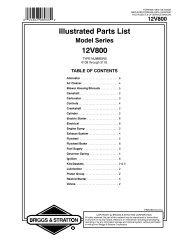 Illustrated Parts List 12V800 - eReplacementParts.com