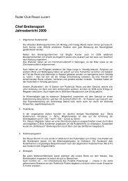 Chef Breitensport Jahresbericht 2009 - Ruderclub Reuss Luzern