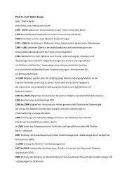 Lebenslauf von Prof. Dr. med Walter Burger - DRK Kliniken Berlin