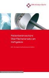 Oberflächenersatz am Hüftgelenk - DRK Kliniken Berlin