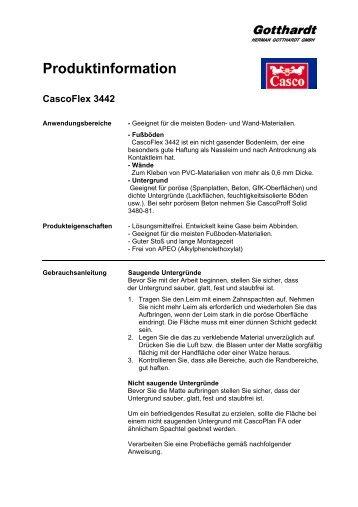 Produktinformation CascoFlex 3442 - Herman Gotthardt GmbH