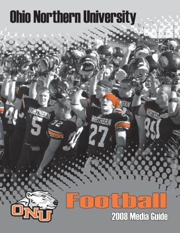 2008 FB Media Guide Cover.indd - Ohio Northern University
