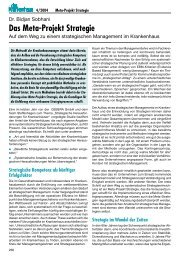 Das Meta-Projekt Strategie - DRK Kliniken Berlin