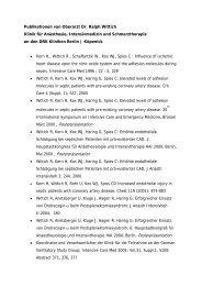 Dr. Ralph Wittich Publikationsliste - DRK Kliniken Berlin