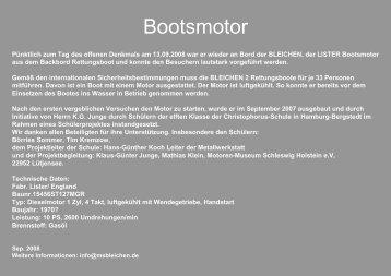 Bootsmotor - MS BLEICHEN