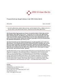 Die Pressemitteilung finden Sie hier. - DRK Kliniken Berlin