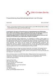 Pressemitteilung: Neue Behandlungsmethode in der Chirurgie