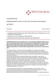 Pressemitteilung: DRK Kliniken Berlin erneut von der Joint ...