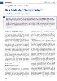 Das Ende der Planwirtschaft - DRK Kliniken Berlin