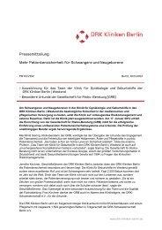 Pressemitteilung - DRK Kliniken Berlin