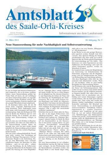 März - Saale-Orla-Kreis