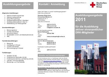 Ausbildungsangebote Kontakt / Anmeldung - DRK Kreisverband ...
