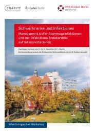 Schwerkranke und Infektionen - DRK Kliniken Berlin