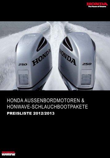 Honda - Übersicht mit allen Bootsmotoren und Preisen öffnen
