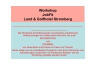 Workshop JobFit Land & Golfhotel Stromberg