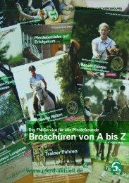 Broschüren von A bis Z www.pferd-aktuell.de - Reiterhof Konle