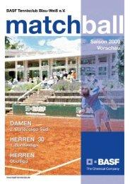 Matchball 2009, Saison 2009 Vorschau, hier downloaden - BASF.com