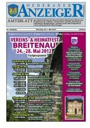 21. Jahrgang 05/2012 Dienstag, der 1. Mai 2012 - Stadt Oederan