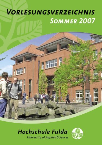 Sommer 2007 - Hochschule Fulda