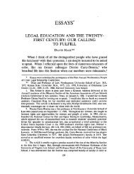 legal education and the twenty-first century - Western New England ...
