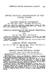 jewish national oeganizations in the united states - AJC Archives